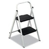 Louisville QS2 Quick Step Steel 2-Step Folding Stool, 11 3/4w x 18 Spread x 24 3/4h
