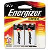 Energizer MAX Alkaline Batteries, 9V, 2 Batteries/Pack