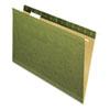 Pendaflex Reinforced Hanging Folders, No Tabs, Legal, Standard Green, 25/Box