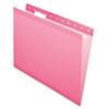 Pendaflex Reinforced Hanging Folders, 1/5 Tab, Letter, Pink, 25/Box