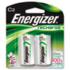 Energizer e NiMH Rechargeable Batteries, C, 2 Batteries/Pack