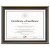 Gold-Trimmed Document Frame w/Certificate, Wood, 8-1/2 x 11, Black
