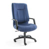 Stratus Series High-Back Swivel/Tilt Chair, Blue Fabric