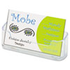 deflecto Horizontal Business Card Holder, 3 3/4w x 1 7/8h x 1 1/2d, Clear