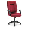Stratus Series High-Back Swivel/Tilt Chair, Burgundy Fabric