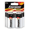 Energizer MAX Alkaline Batteries, D, 4 Batteries/Pack