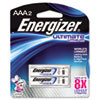 Energizer e Lithium Batteries, AAA, 2 Batteries/Pack