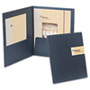 Oxford YourStyle Custom Card Folio Presentation Folder, Letter Size, Black, 4/Pack