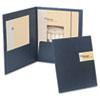 Oxford YourStyle Custom Card Folio Presentation Folder, Letter Size, Black, 4/Pack