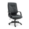 Stratus Series Leather High-Back Swivel/Tilt Chair, Black