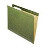 Pendaflex Reinforced Hanging Folders, No Tabs, Letter, Standard Green, 25/Box