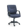 Stratus Series Mid-Back Swivel/Tilt Chair, Blue Fabric