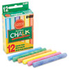 Prang Hygieia Dustless Board Chalk, 3 1/4 x 3/8. Assorted, 12/Box