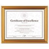 Antique Colored Document Frame w/Certificate, Metal, 8-1/2 x 11, Gold