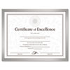 Value U-Channel Document Frame w/Certificates, 8-1/2 x 11, Silver