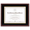 DAX Hardwood Document/Certificate Frame w/Mat, 11 x 14, Mahogany