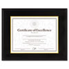 DAX Hardwood Document/Certificate Frame w/Mat, 11 x 14, Black