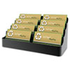 Recycled Business Card Holder, Holds 450 2 x 3 1/2 Cards, Eight-Pocket, Black