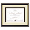 Gold-Trimmed Document Frame w/Certificate, Wood, 11 x 14, Black