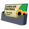 Recycled Business Card Holder, Holds 50 2 x 3 1/2 Cards, Black
