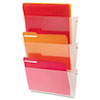 deflect-o Unbreakable Wall File Set, Letter, Three Pocket, Clear