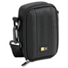 Medium Camera/Flash Camcorder Case, Polyester/EVA, 3-3/4 x 2-1/4 x 5-3/4, Black