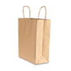 Premium Small Brown Paper Shopping Bag, 50/Box
