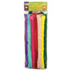 "Super Colossal Pipe Cleaners, 18"" x 1"", Metal Wire, Polyester, Assorted, 24/Pack"
