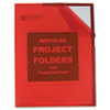 C-Line Recycled Project Folder, Jacket, Letter, Poly, Red, 25/Box