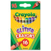 Crayola Glitter Crayons, 16 Colors/Box