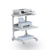 Dual Laser Printer Stand, 3-Shelf, 24w x 24d x 33h, Gray