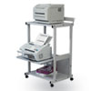 Max Stax Dual Purpose Printer Stand, 3-Shelf, 25w x 20d x 42-1/2h, Gray