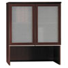 "36""W Bookcase Overhead w/ Glass Doors Milano 2, Harvest Cherry"