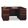 "60""W Double Pedestal Desk (F/F,B/B/F) Box 1 of 2 Milano 2, Harvest Cherry"