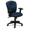basyx VL220 Series Mid-Back Task Chair, Navy