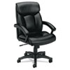 VL151 Executive High-Back Chair, Black Leather