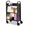 Single-Sided 3-Shelf Book &amp; Utility Cart/Stand, 26 x 14 x 44, Raven Black
