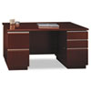"60""W Double Pedestal Desk (F/F,B/B/F) Box 2 of 2 Milano 2, Harvest Cherry"