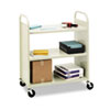 Steel Flat Shelf Cart/Stand, 3-Shelf, 36 x 18 x 43, Putty