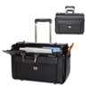 Bond Street, Ltd. Rolling Computer/Catalog Case, Leather, 19 x 9 x 15-1/2, Black