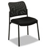 VL506 Stacking Guest Chair, Mesh Back, Padded Mesh Seat, Black