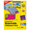 Avery Removable Self-Adhesive Color-Coding Labels, 2 x 4, Assorted Neon, 120/Pack