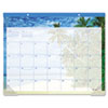 "Recycled Tropical Escape Desk Pad, 22"" x 17, Design, 2013"