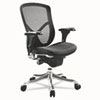 EQ Series Ergonomic Multifunction Mid-Back Mesh Chair, Aluminum Base
