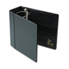 "Heavy-Duty Vinyl EZD Reference Binder With Label Holder, 5"" Capacity, Black"