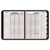 AT-A-GLANCE Triple View Weekly/Monthly Appointment Book, Black, 8 1/4