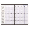 "Recycled Monthly Academic Planner, Black, 7 7/8"" x 11 7/8"", 2012-2013"