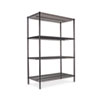 Wire Shelving Starter Kit, 4 Shelves, 48w x 24d x 72h, Black