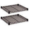 Industrial Wire Shelving Extra Wire Shelves, 18w x 18d, Black, 2 Shelves/Carton