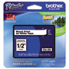 Brother P-Touch TZe Standard Adhesive Laminated Labeling Tape, 1/2w, Black on White